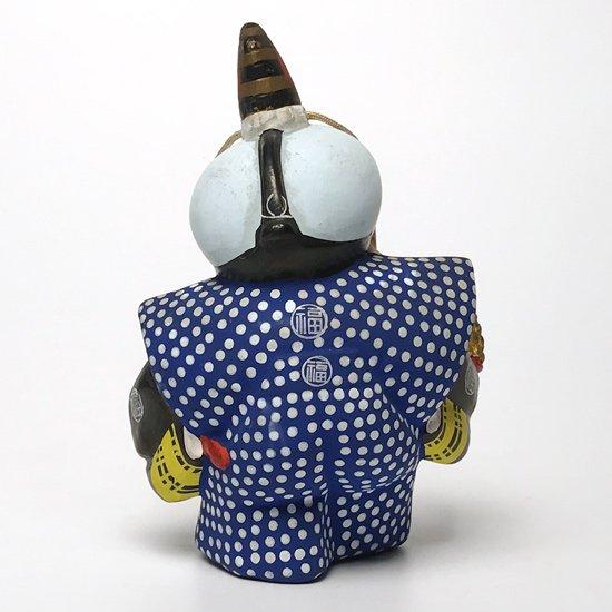 縁起物として有名な福助の古い土人形、とても珍しい踊り姿