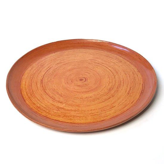 Vintage Items : 古いブナコでは珍しい浅い丸型でなおかつ特大サイズのデザイン。古いものにしかないピンク色のパテが使われた貴重なもの