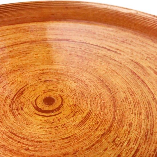 古いブナコでは珍しい浅い丸型でなおかつ特大サイズのデザイン。古いものにしかないピンク色のパテが使われた貴重なもの