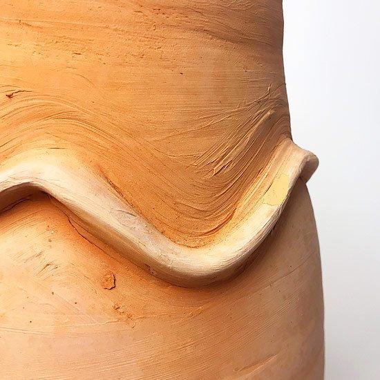 ヨーロッパの陶器 : 素焼きのベース(ひょうたん型)