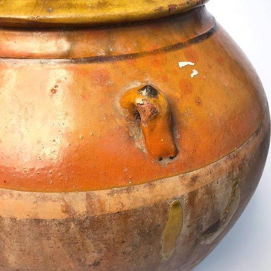 ヨーロッパの陶器 : 油壺(耳付き)ベース