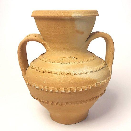 Vintage European Pottery : 素焼きのアンフォラ