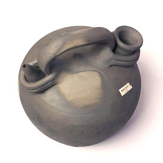 ヨーロッパの陶器 : 黒陶のボティホ(小)