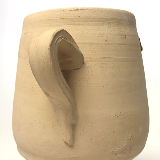 ヨーロッパの陶器 : 素焼きのカップ(蓋付き)