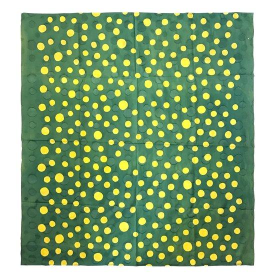 山内染色工房: 柔らかな素材の風呂敷『ドット』/ 緑 x 黄