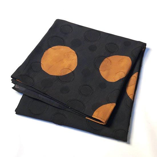 山内染色工房: 柔らかな素材の風呂敷『ドット』/ 黒 x 茶