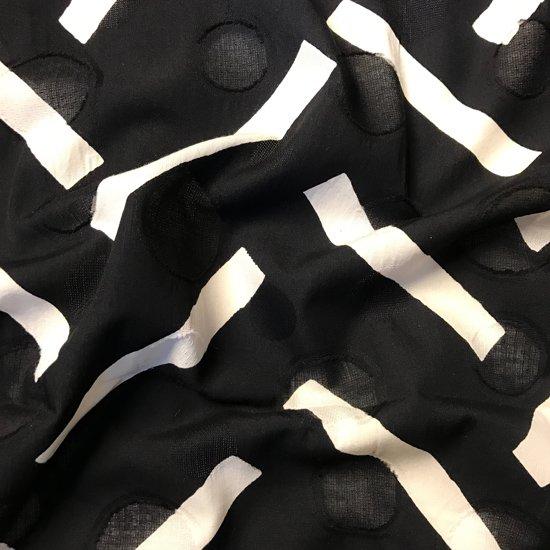 山内染色工房: 柔らかな素材の風呂敷『桧垣』/ 黒