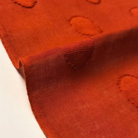 山内染色工房: 柔らかな素材の風呂敷『鱗』/ 赤