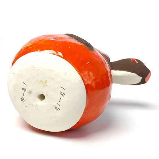 静岡県の郷土玩具、浜松張り子4代目 二橋加代による古い柿乗り猿