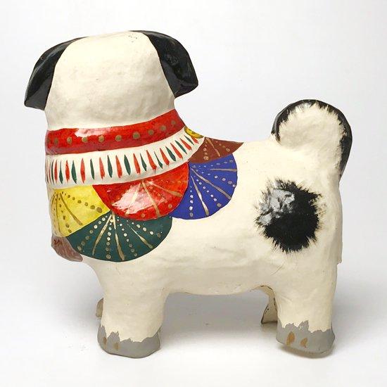 広島県の伝統工芸「常石張子」の古い四つ立犬