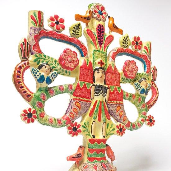 メキシコのマタモロスの Francisco Flores による古いツリーオブライフ