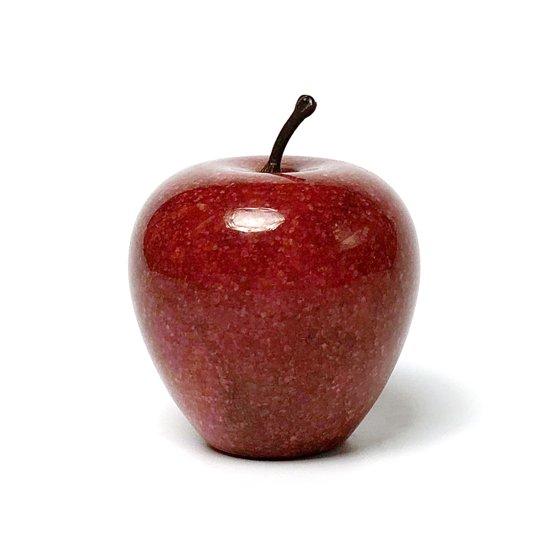 大理石のりんごのオブジェ