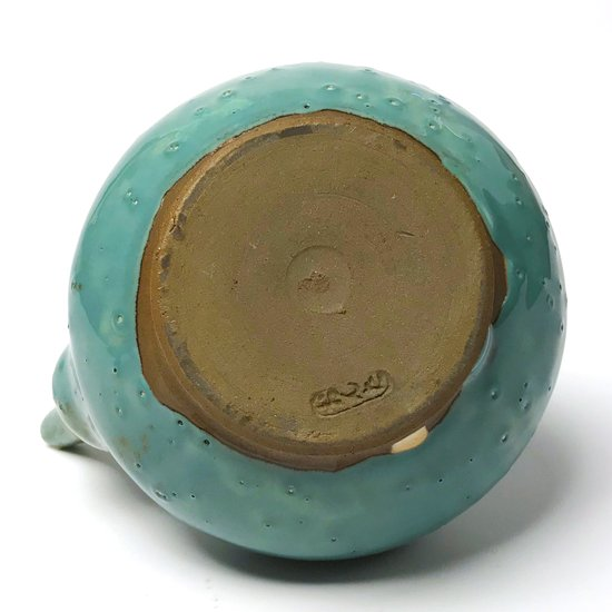日本一の民窯 小鹿田焼 の青釉が美しい古い雲助徳利