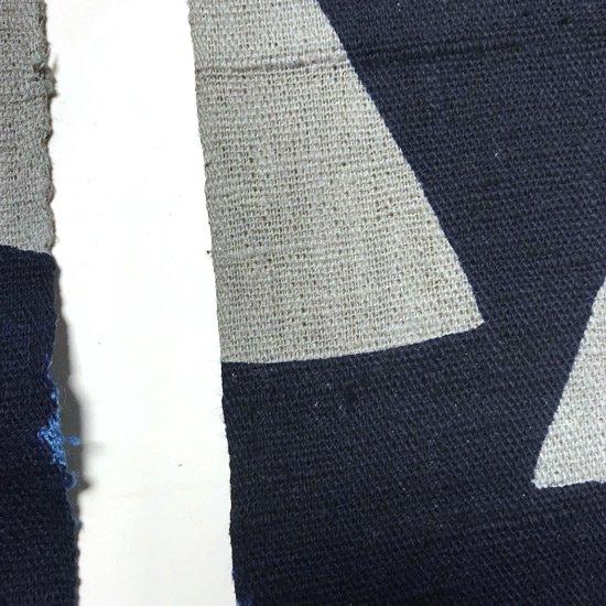 山内染色工房: のれん『日月山』/ 濃紺