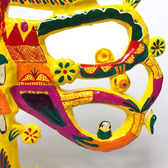 張子作手「寿印」による張子作品、とても大きな「ツリーオブライフ」