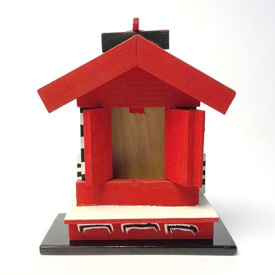 島根県松江の郷土玩具、天神様の祠を模した『松江のお宮さん』