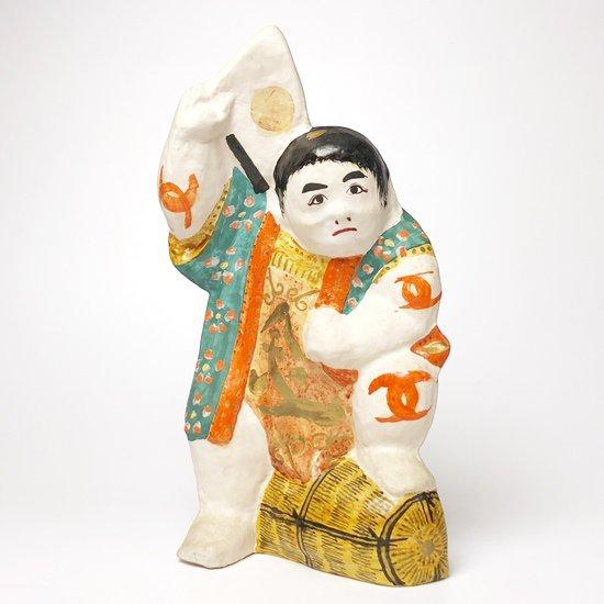 広島県の郷土玩具「常石張子」の大きな古い金太郎
