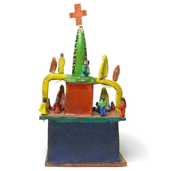 1970年代にメキシコのハリスコで作られた大きな教会のオブジェ