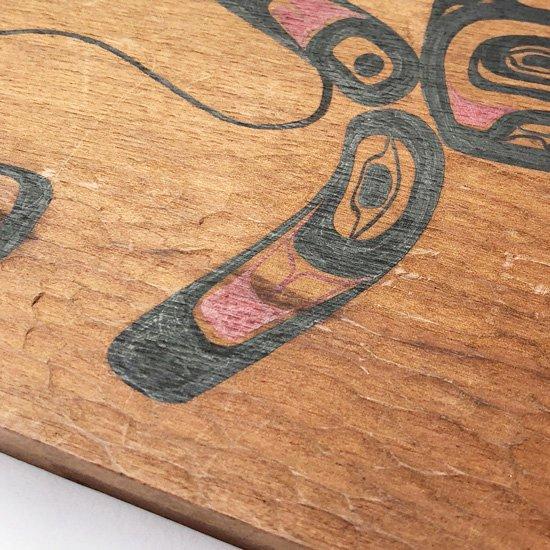 1970年代、カナダのネイティブアメリカンによって制作された木彫りの壁掛け