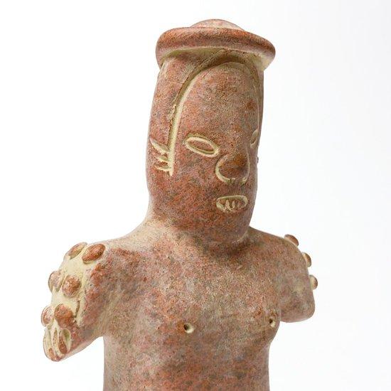 古代メキシコの文化が栄えていた地域でスーベニアとして作られた1980年代の陶器のフィギュア