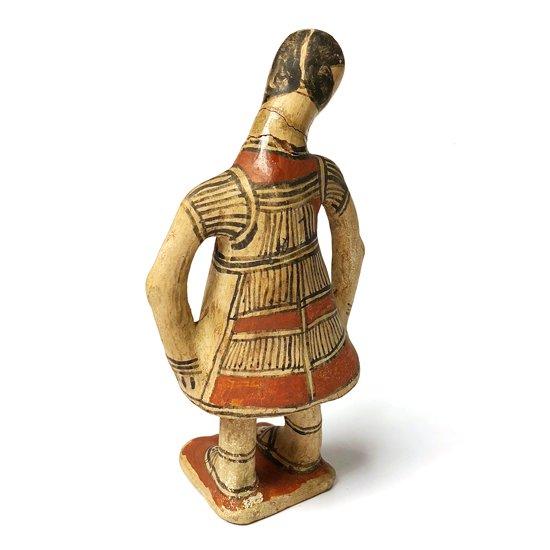 メキシコのゲレロにある町で作られた、古い陶器の人形