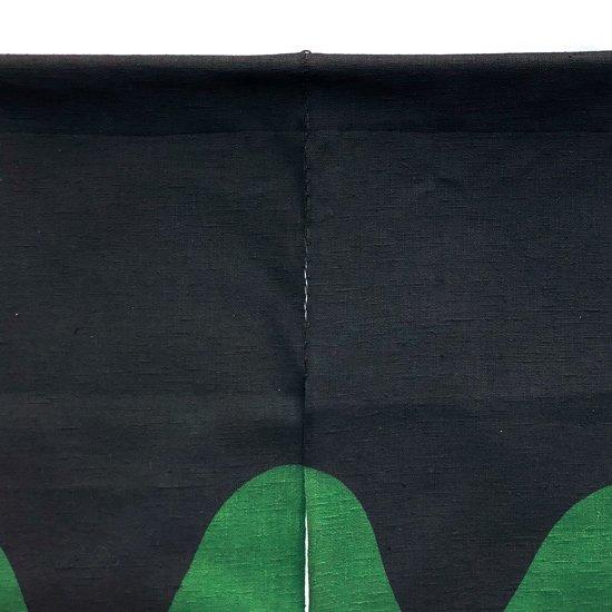 山内染色工房: のれん『波』/ 濃紺 × 緑