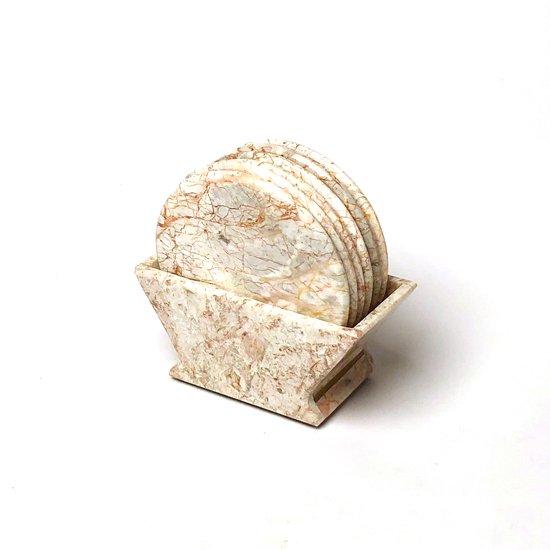 1980年代メキシコで製作された大理石製のコースターセット