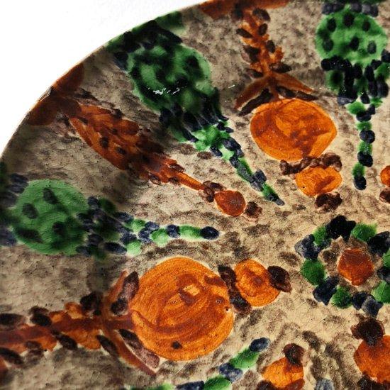 1970年代メキシコのフォークアート、柄と色使いがとてもきれいなプレート