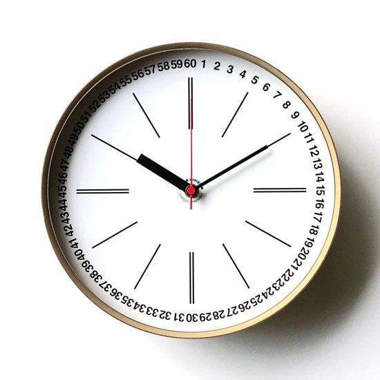 Swimsuit Department による時計のためのブランド Clock Division の第一弾となる壁掛け時計の一つ「1 to 60」