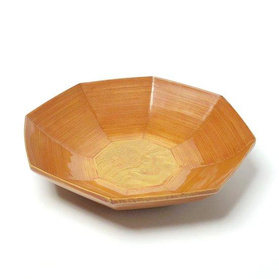 Vintage Items : とても珍しい八角形のモダンなデザイン。他にないオレンジ色のパテ。微妙な曲線によってつくられる美しいグラデーション