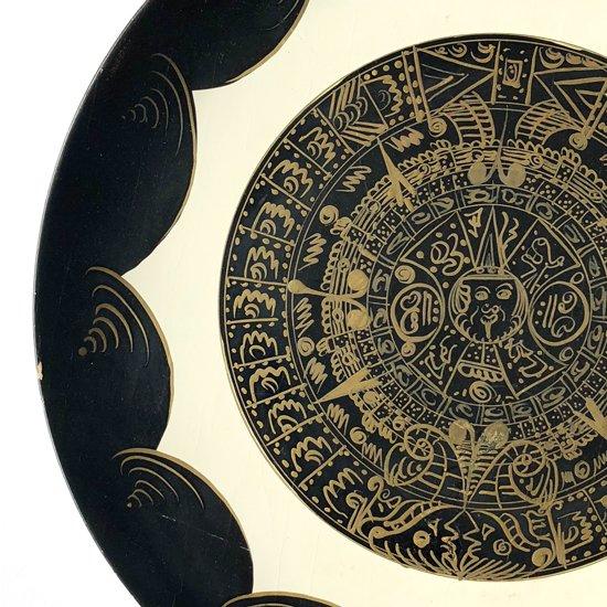 メキシコで1960年代に製作されたラッカー細工の大きなトレー