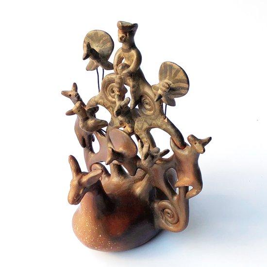 メキシコのアーティスト Heron Martinez による1970年代のとても貴重なツリーオブライフ