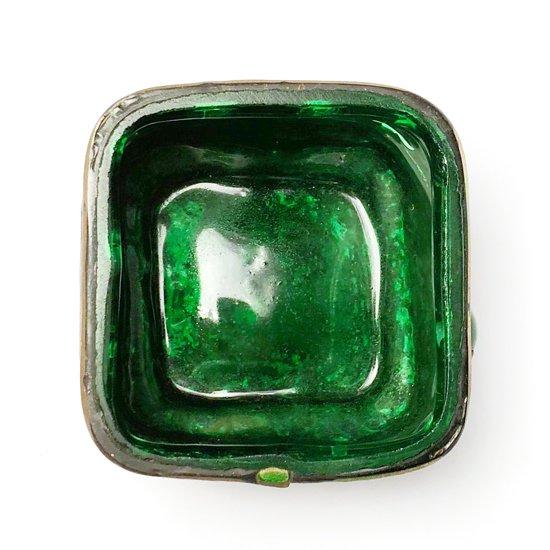 50年代頃に製作されたメキシコの手吹きガラスのトレイ
