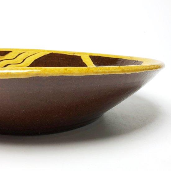 河井寛次郎の作品の図案を用いて、島根県の布志名で製作された古い大鉢