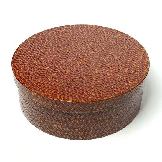 福岡県久留米の伝統工芸 籃胎漆器の未使用の古い茶櫃