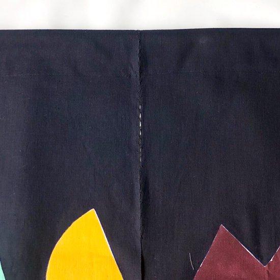 山内染色工房: のれん『日月山』/ 色差し x 濃紺
