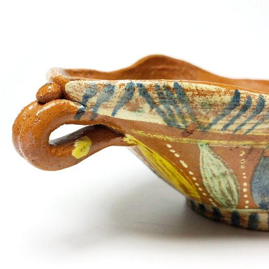 1970年代メキシコのメテペックで作られた陶器のボウル