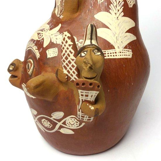 1970年代ペルーで作られた陶器の大きなキャンドルホルダー