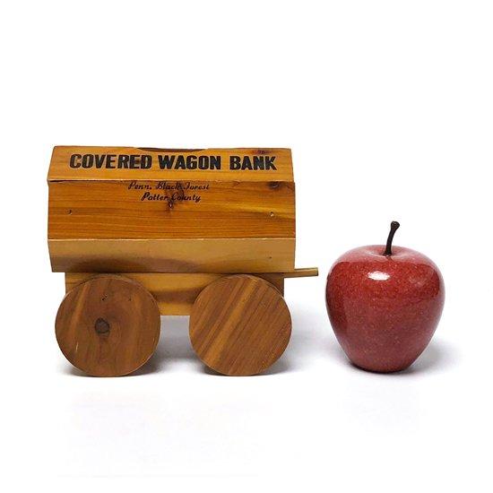 アメリカで買い付けた古い木製の貯金箱