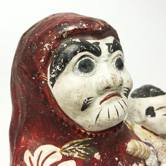 表情の雰囲気がとても良い花巻人形の達磨と童子