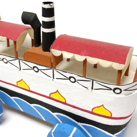 ヴィンテージ ジャパニーズ フォークアート:東隆志氏による倉敷の蒸気船