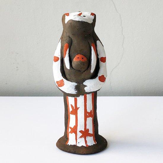 熊本県の郷土玩具 木葉猿 の絵付けがとても珍しい個体