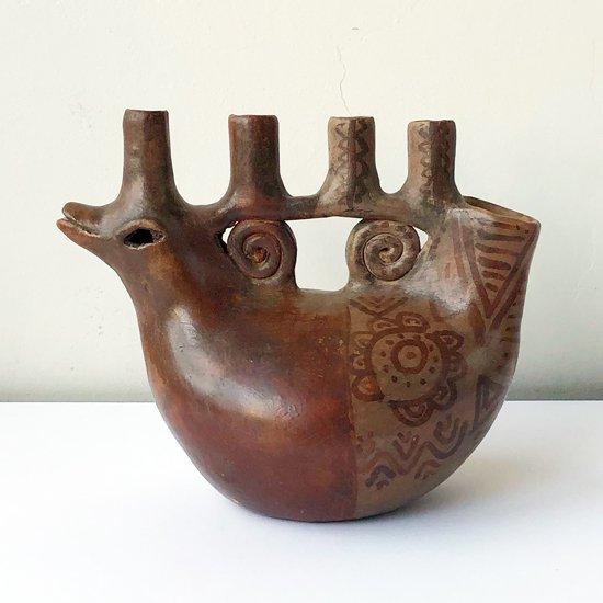 メキシコのアーティスト Heron Martinez による1970年代の陶器の燭台