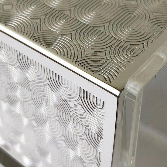 1960年代頃にドイツの WMF で生産されていたステンレスの蓋がついたアクリル製のボックス