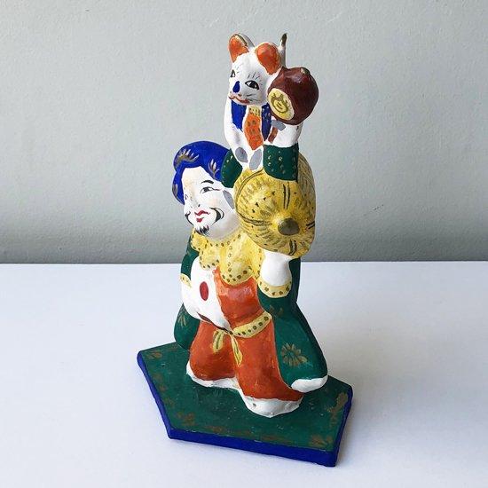 広島県の郷土玩具「常石張子」のねずみ大黒