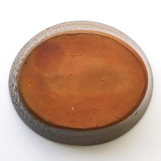 島根県布志名の陶芸家 舩木研兒 による淡黄釉櫛描楕円鉢
