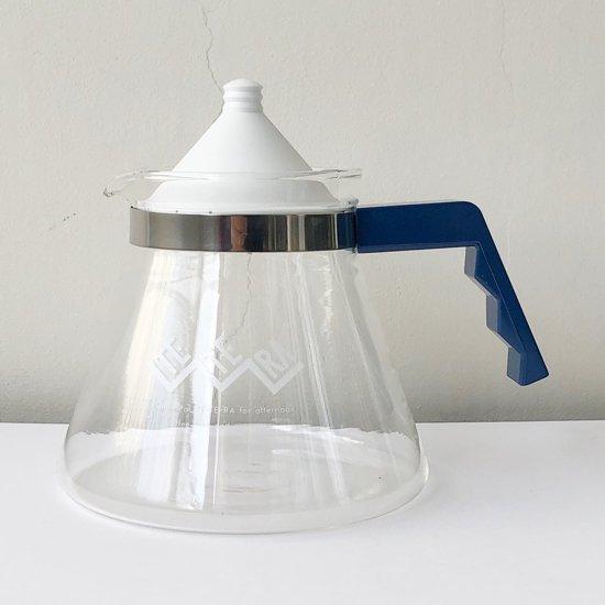 ポストモダンデザインを彷彿とさせる、古い耐熱ガラスのティーポット