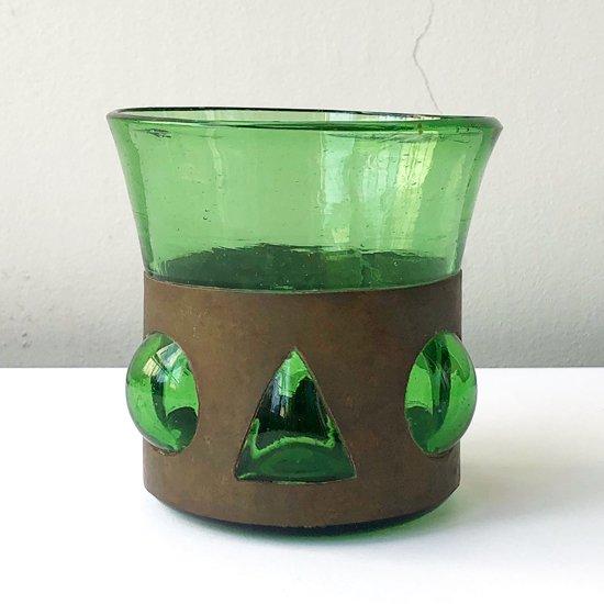 1970年代メキシコの手吹きガラスのグラス