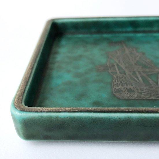 1960年代にスウェーデンの陶器メーカー グスタブスベリ にて製産さたArgentaの小さなトレイ
