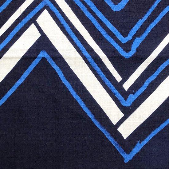山内染色工房: 柔らかな素材の風呂敷『ジグザグ』/ 紺 x 青